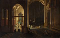 Evening Mass in a Gothic Church