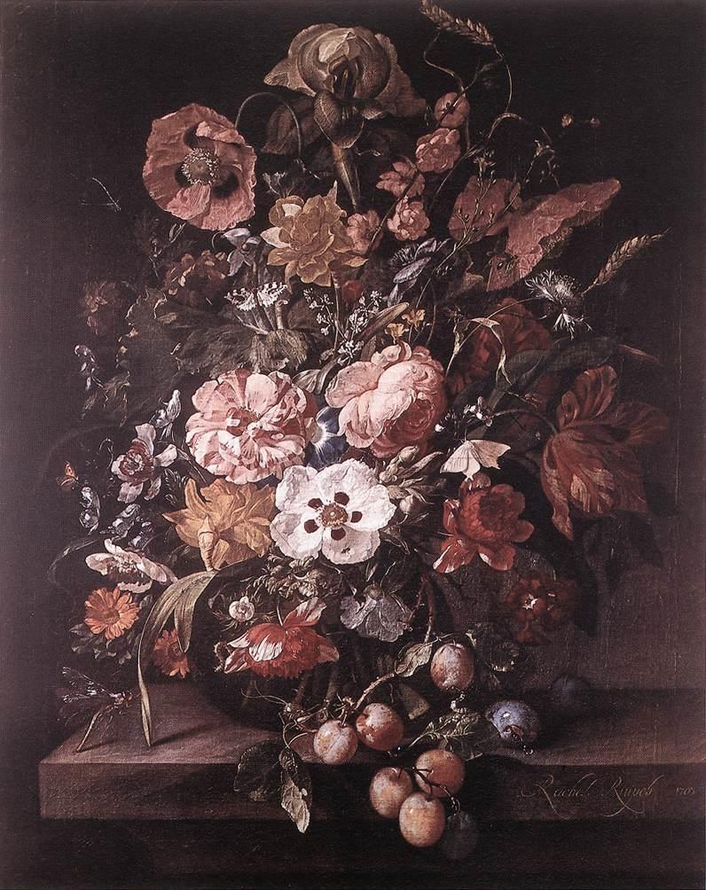 Flowerpiece with prunes