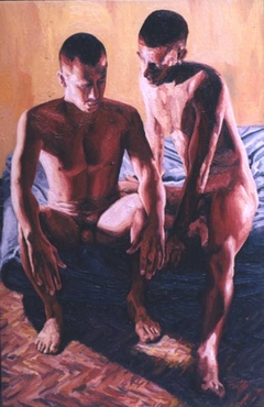 gay couple love paintings homosexual art painting queer artworks homoerotic painter raphael perez lgbt artist