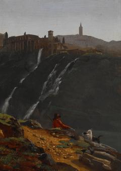 Goatherd Opposite the Falls of Tivoli