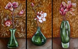 Green Vase Triptych
