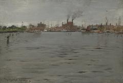 Harbor Scene, BrooklynDock