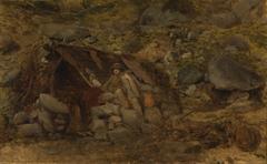 Highlander in Front of a Hut