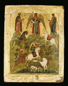 Icon: The Archangel Michael Blessing the Martyred Saints Florus and Laurus of Dalmatia