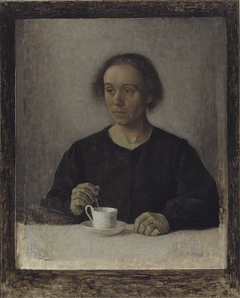 Ida Hammershøi, the Artist's Wife, with a Teacup
