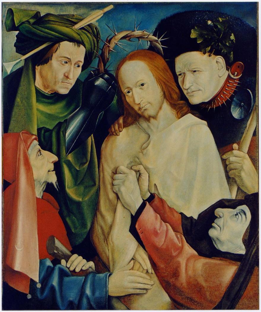 """Copy from """"Incoronazione di spine"""" di J. Bosch, 1977 (olio su tela)"""