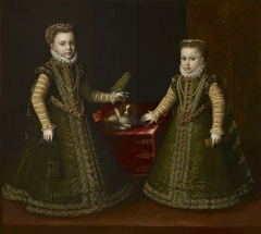 Infante Isabella Clara Eugenia and her sister Caterina Michela