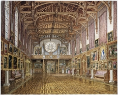 Interieur van de Gotische Zaal, paleis Kneuterdijk, Den Haag