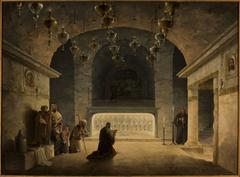 Interior of the Church of the Nativity in Bethlehem.