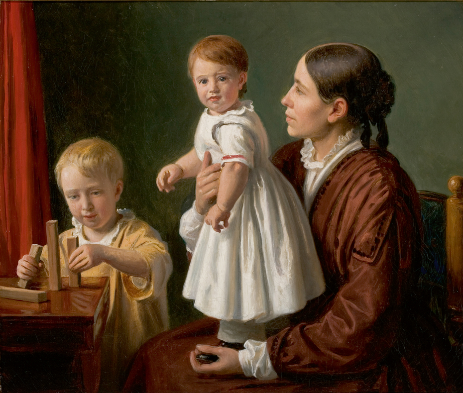 Interior with Georgia Skovgaard and her sons Joakim and Niels