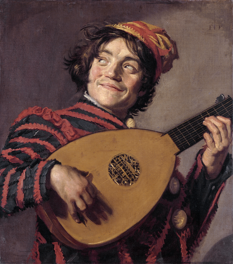 Jester with lute