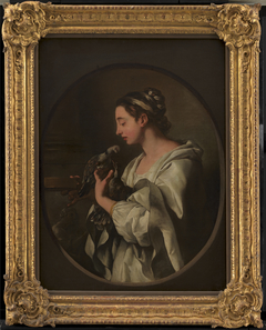"""L'Amour conjugal"". A Young Woman with two Doves. An Allegory of Conjugal Love"