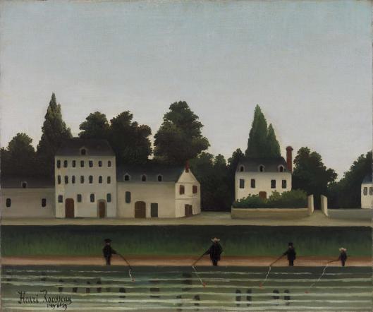 Landscape and Four Fisherman (Paysage et quatre pêcheurs à la ligne)