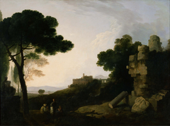 Landscape Capriccio with Tomb of the Horatii and Curiatii, and the Villa of Maecenas at Tivoli