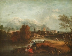 Landscape with a Couple by a River