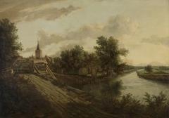 Landscape with rolling bridge