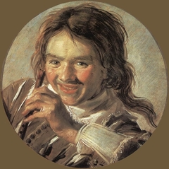 Laughing boy with a flute