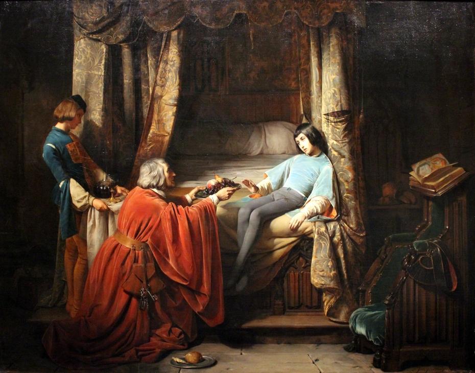 Le Jeune Gaston, dit l'ange de Foix by Claudius Jacquand
