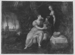 Lot und seine Töchter (?)