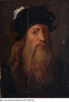 Lucan portrait of a man by Leonardo da Vinci