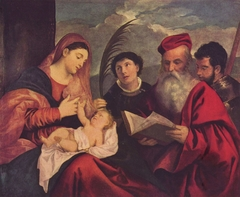 Madonna and Child with St. Stephen, St. Jerome and St. Mauritius