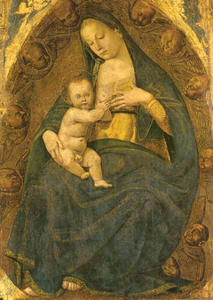 Madonna of the milk in glory