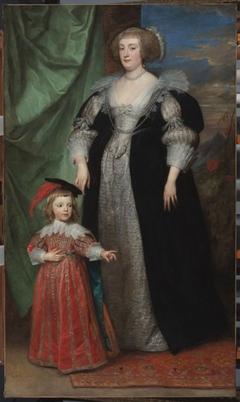 Marie Claire de Croy, Duchess d'Havre and Child