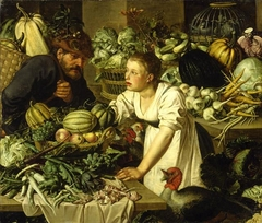 Market scene with two figures