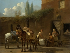 Muleteers at an Inn