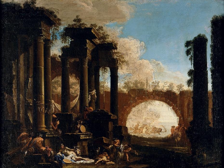 Mythological Figures among Ruins