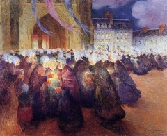 Nightime Procession in Saint-Pol-de-Léon