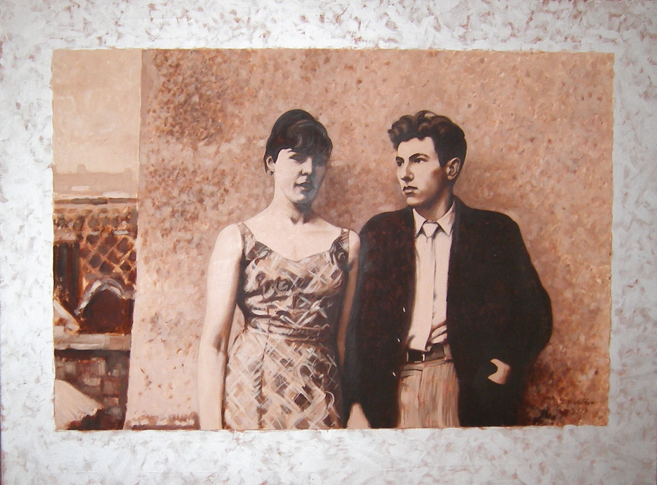 'Nostalgia: Margaret Clark and John A Walker circa 1959 or 1960', (1973). Oil on canvas. 121.5 x 91.5 cm.