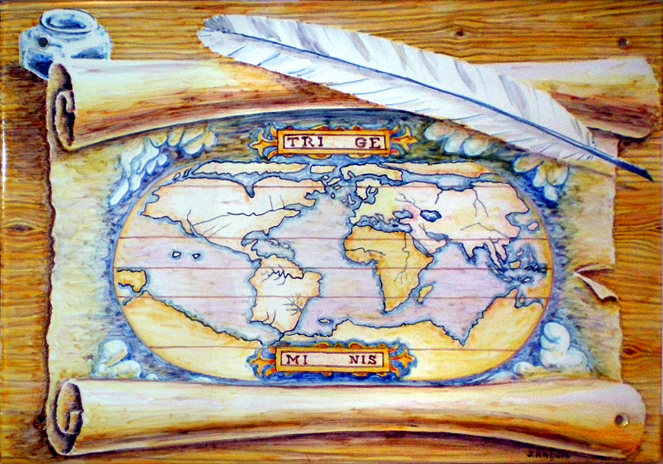 Old parchment map