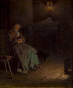 Old Woman Watching over a Dead Body II