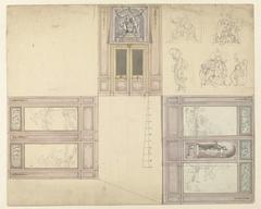 Ontwerp voor de decoratie van drie wanden van een kamer