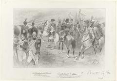 Ontwerp voor illustratie voor De Kolossus der Negentiende Eeuw door P.J. Andriessen (Groot Plaat, blz. 153); scène uit het leven van Napoleon
