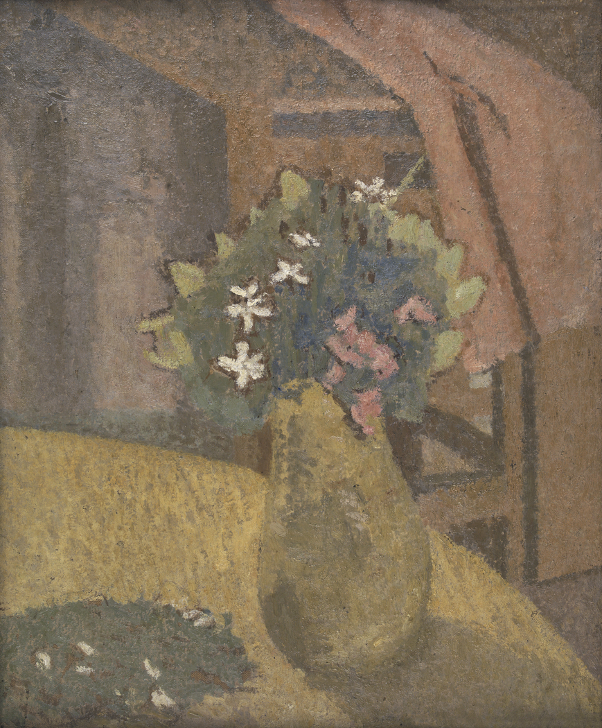 Painting of a vase of flowers by Gwen John