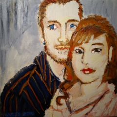 painting of Rocky and Vivianne