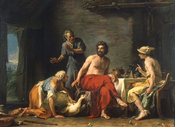 Philemon and Baucis Offering Hospitality to Jupiter and Mercury