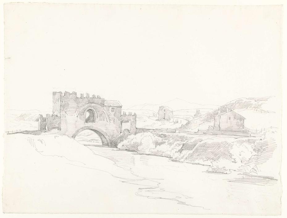 Ponte Nomentano, gezien naar de kant van Tivoli