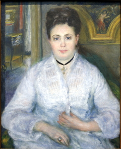 Portrait de Mme Chocquet en blanc