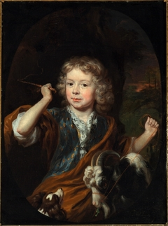 Portrait of Anthony de Sadelaer as a Boy, with a Goat and a Dog