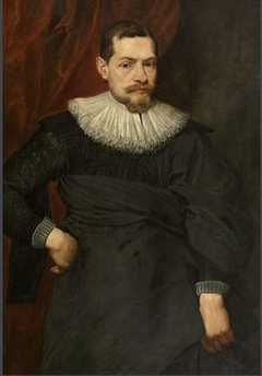 Portrait of man with an unstarched ruff