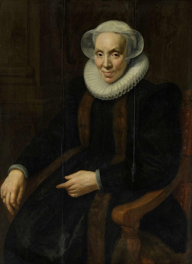Portrait of Maria van Utrecht (c. 1552/53-1629)