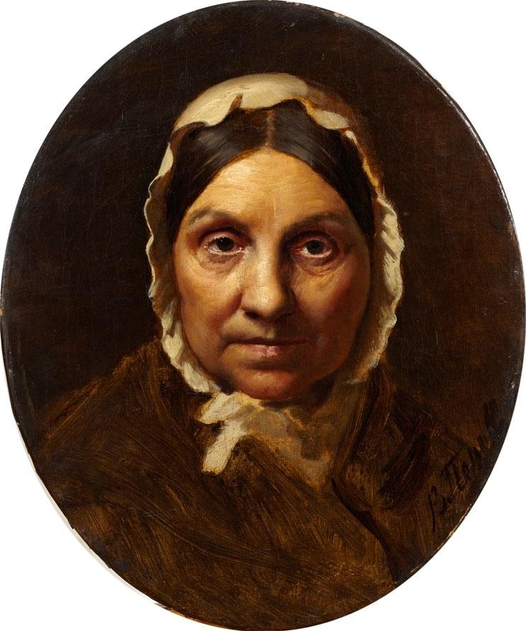 Портрет пожилой женщины в чепце