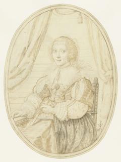Portret van Anna Maria Schurman