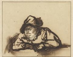 Portret van de acteur Willem Bartholsz. Ruyter