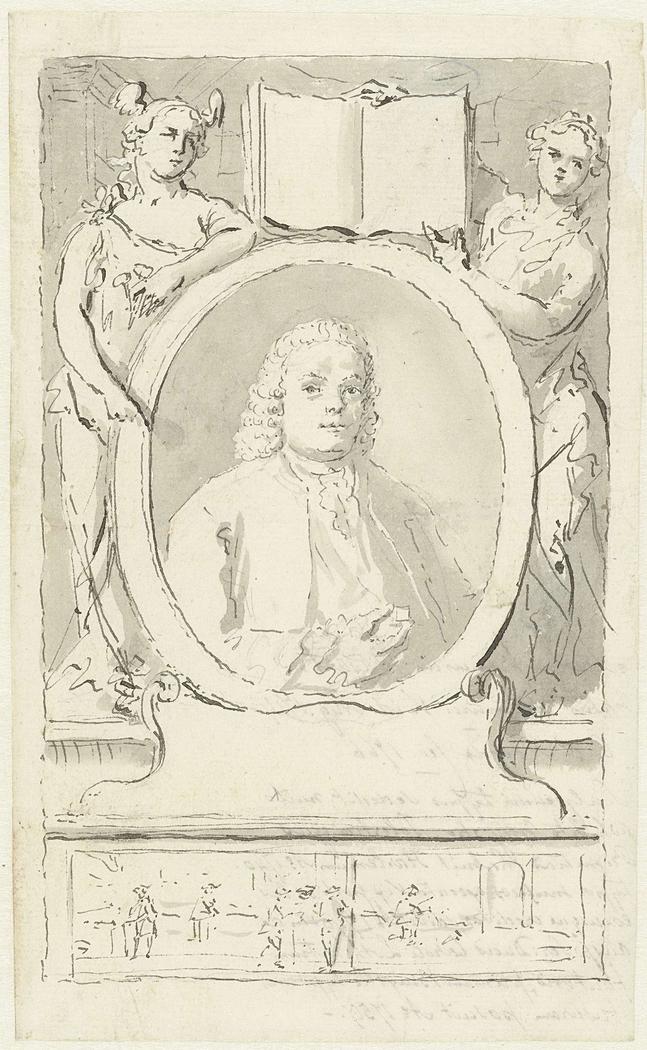 Portret van de lettersnijder Jacobus Franciscus Rosart