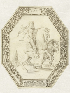 Portret van Prins Frederik Hendrik, te paard