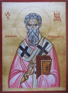 Saint Alexander - Egg Tempera on wood